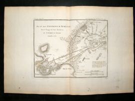 Barthelemy 1790 Antique Map Environs of Athens, Greece